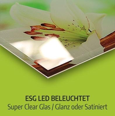 Küchenrückwand ESG LED beleuchtet