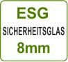 ESG Glas Ceranfeldabdeckung - ESG Sicherheitsglas 8 mm