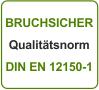 Küchenrückwand bruchsicher Qualitätsnorm DIN EN 12150-1