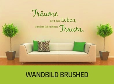 Wandbild brushed