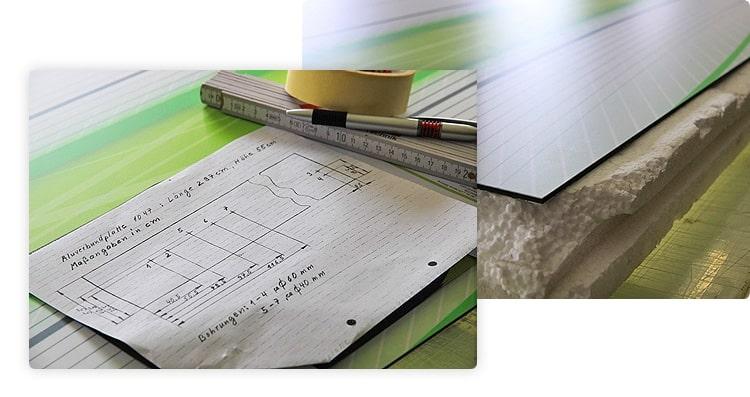 Steckdosenbohranleitung für Aluverbund Küchenrückwand